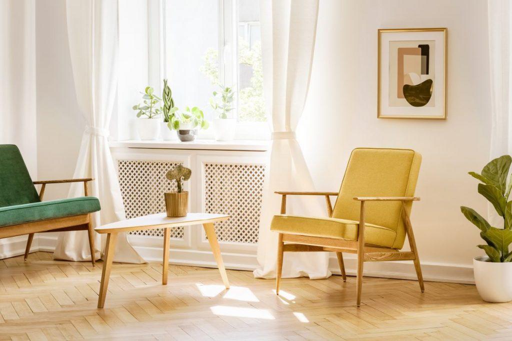 Funkcjonalne i dekoracyjne krzesło retro do domu